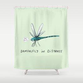 Damselfly in Distress Shower Curtain