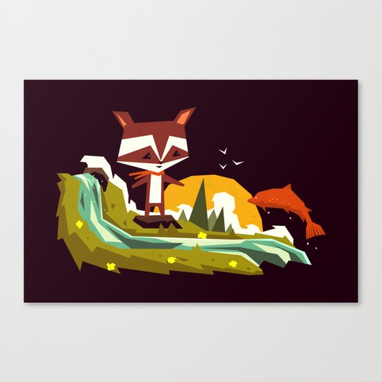 Welcome home mister Salmon! Canvas Print