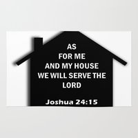 bible verse Area & Throw Rugs featuring Bible verse by cmphotography