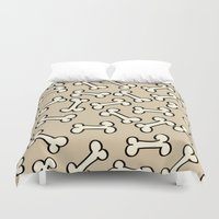 bones Duvet Covers featuring Bones by Jessica Santos