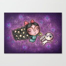 Black Hair Alice Canvas Print