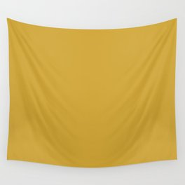 Butterscotch Yellow Solid Color Pairs W/ Sherwin Williams 2020 Color Kingdom Gold SW6698 Wall Tapestry