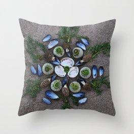 Nature Mandala: April Throw Pillow