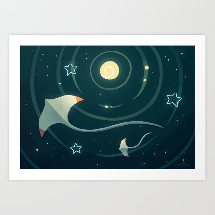 Space Ray Art Print