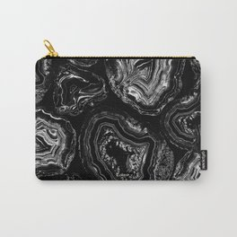 White marble lines Carry-All Pouch