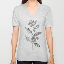 Flowers and Textiles Unisex V-Neck