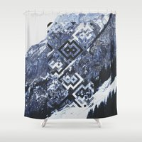 geo Shower Curtains featuring GEO by MIRA design