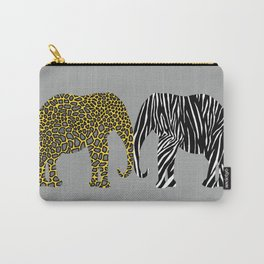 Elephants in Animal Prints Carry-All Pouch