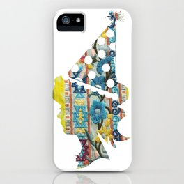 Cute fabric art vintage style iPhone Case