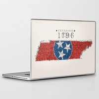 tennessee Laptop & iPad Skins featuring Tennessee: 1796 by Chad Madden