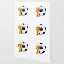 Beer and Soccer Ball Wallpaper