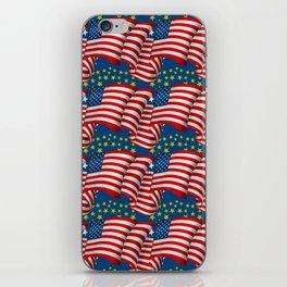 American Flag Pattern iPhone Skin