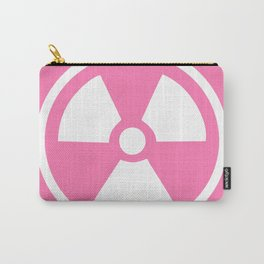 Pink Radioactive Symbol Carry-All Pouch