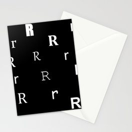 R for my name Renee Stationery Cards