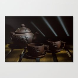 teapot and cups Canvas Print