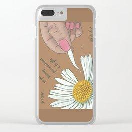 Je t'aime...un peu...beaucoup Clear iPhone Case