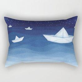 Paper boats illustration Rectangular Pillow