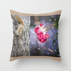 Let's hang in there together Throw Pillow
