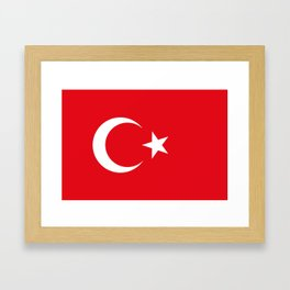National flag of Turkey, Authentic color & scale Framed Art Print