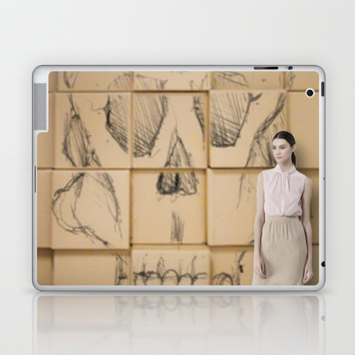 Space in Boxes with a model Laptop & iPad Skin