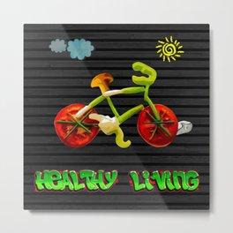Veggie Bicycle Metal Print