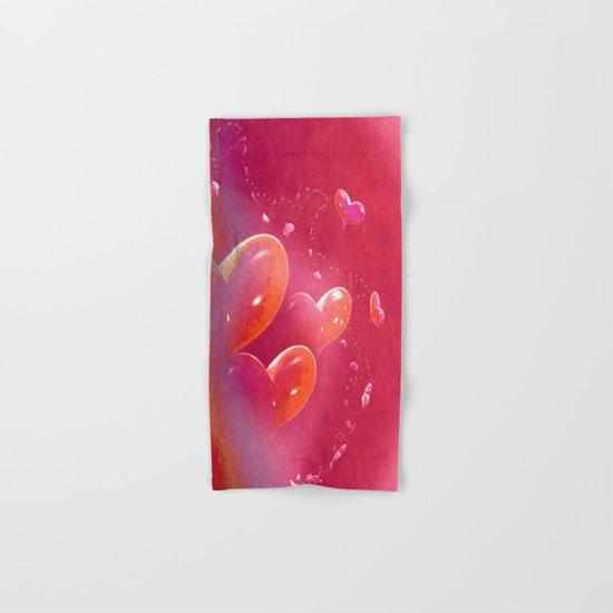Hearts Hand & Bath Towel