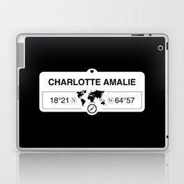 Charlotte Amalie, United States Virgin Islands GPS Coordinates Laptop & iPad Skin