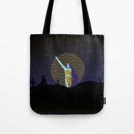 Desert goddess at night Tote Bag