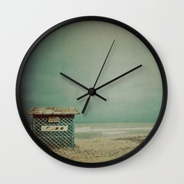Wintertime and the living is easy Wall Clock