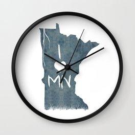 I LOVE MN Wall Clock