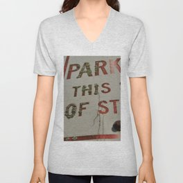 No Parking Unisex V-Neck