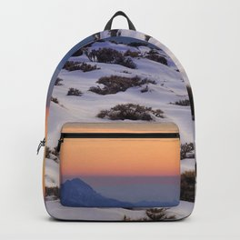 Orange sunset at the mountains. Sierra Nevada Backpack