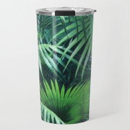 Tropical Botanic Jungle Garden Palm Leaf Green Travel Mug