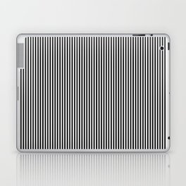 Black & White Vertical Stripes Laptop & iPad Skin