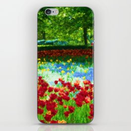 Colorful Impressionist Flower Field - II iPhone Skin