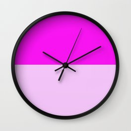 Rose and Pink Wall Clock