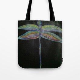 Dragonfly on Black Tote Bag