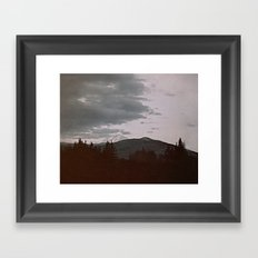 Film + Grain: Oregon Landscape Framed Art Print