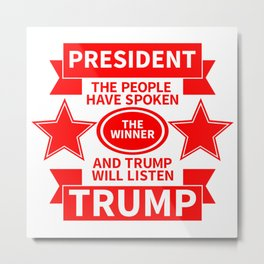 President Trump Metal Print