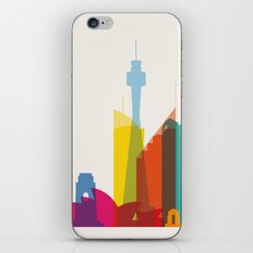 Shapes of Sydney. Accurate to scale iPhone Skin