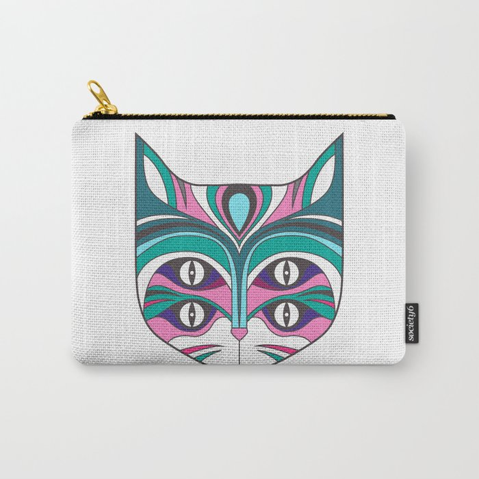 4 eyed cat (2) Carry-All Pouch