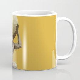Yellow Man with Big Ball Illustration Coffee Mug