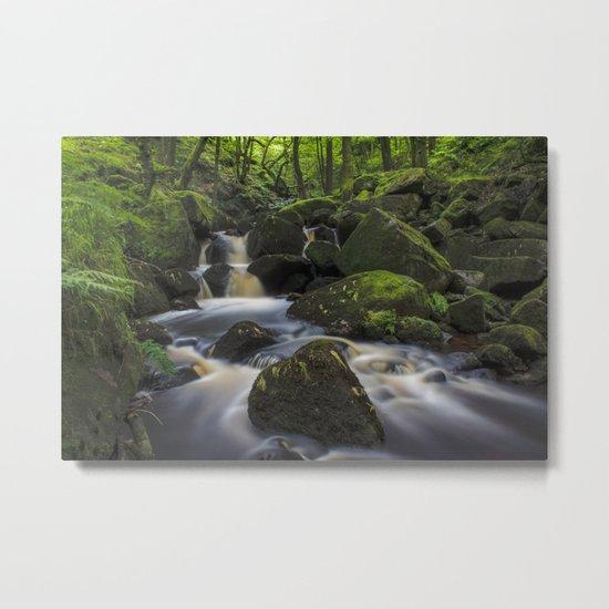 River At Padley Gorge Metal Print