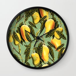 Mango Season #society6 #decor #buyart Wall Clock