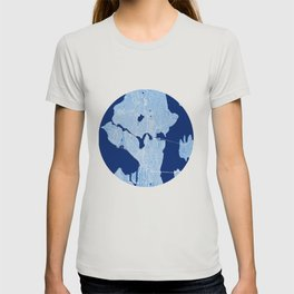 Seattle Map Blue T-shirt