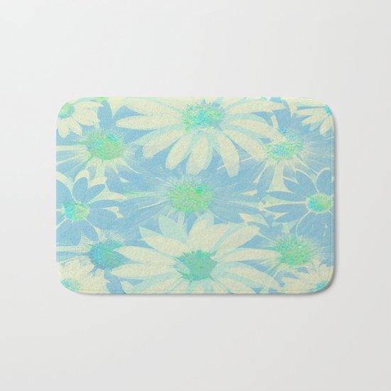 Soft Painterly Floral Sparkle Absract Bath Mat