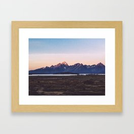 Sunrise at Jackson Lodge Framed Art Print