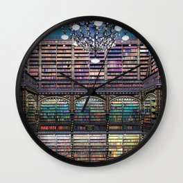 Library Real Gabinete Português de Leitura, Rio de Janeiro, Brazil Photograph Wall Clock
