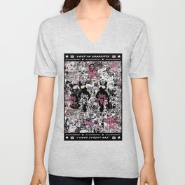 Lost in Graffitis and Stickers Unisex V-Neck