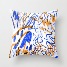 Rumours color Throw Pillow